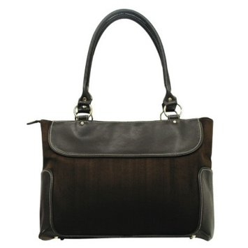 G Pacific G. Pacific Women's Suede Business Computer Tote - Brown