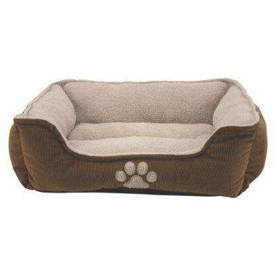 Dallas Mfg. Co Dallas Pinwale Cord Box Bed with Paw Facing and Microtec Sleep
