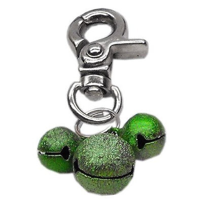 Mirage Dog Supplies Lobster Claw Bell Charm Emerald Green .