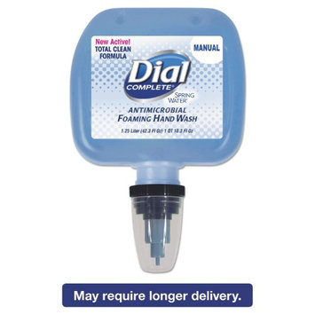 The Dial 13441CT Foaming Hand Wash Refill, Spring Water Scent, 1.2 L Cartridge, 3/carton