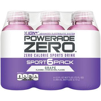 Powerade Zero Grape 12 Oz Ion4 6 Pk