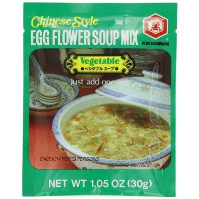 Kikkoman Kikomn Egg Flower Soup Mix, Vegetable, 1.05-Oz Pouches (Pack of 6)