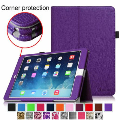 iPad Air 2 Case [Corner Protection] - Fintie Slim Fit Leather Folio Case with Auto Sleep / Wake Feature, Violet