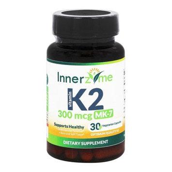 Innerzyme Vitamin K2 MK-7 300 mcg - 30 Vegetarian Capsules