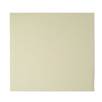 King Zak Ind Lillian Tablesettings 25735 Cream Solid Beverage Napkin 3 Ply - 960 Per Case