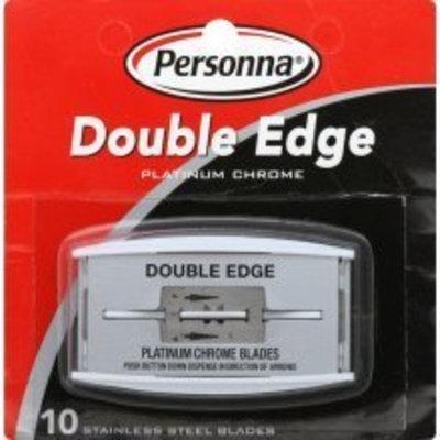 Personna Platinum Chrome Double Edge Razor Blades * 10 Blades Per Package