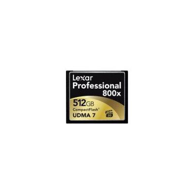 Lexar 512GB Professional 800x CompactFlash Card