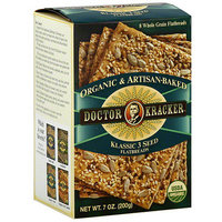 Doctor Kracker Organic & Artisan-Baked Klassic 3 Seed Flatbreads