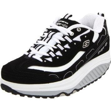 Skechers Women's Shape Ups Strength Fitness Walking Sneaker [Black / White, 6.5 C/D US]