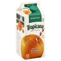 Tropicana Pure Premium 100% Juice, Orange, Some Pulp, 59 fl oz (1.8 qt) 1.75 lt
