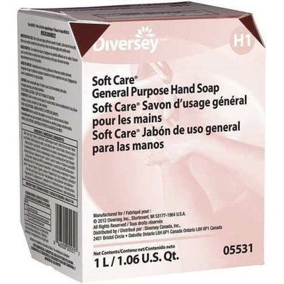 Soft Care Liquid Hand Soap (1000 ml, White) [PK/12]. Model: 05531