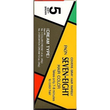 PAON Seven-Eight Hair Color #5 Matt Brown Refill - Tube 1 Color Cream 1.4 Oz - Tube 2 Oxidation Cream 1.4 Oz