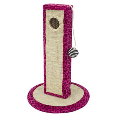 Cat Life Cat-Life Activity Tower in Neon Pink Leopard Print with Extra