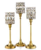 Leeber Set of 3 Gold Sparkle Tapers