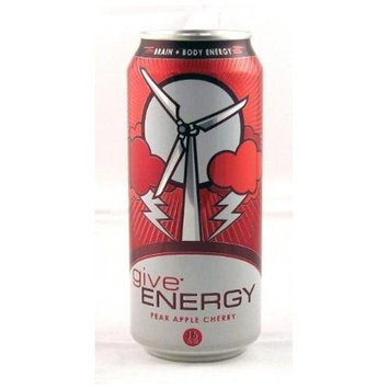 Give Energy Drink, Pear Apple Cherry, 16-Ounce Cans (Pack of 12)