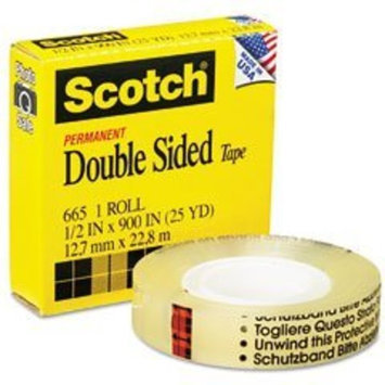 3M 665 Double-Sided Tape, 1/2