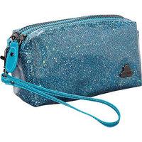Clava Jazz Glitter Cosmetic Pouch Fuschia - Clava Ladies Cosmetic Bags