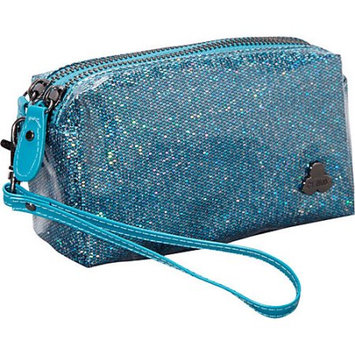 Clava Jazz Glitter Cosmetic Pouch Fuschia - Clava Ladies Cosmetic Bags