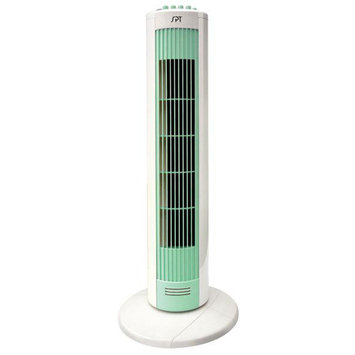Spt SPT Tower Fan with Night Light Green & White