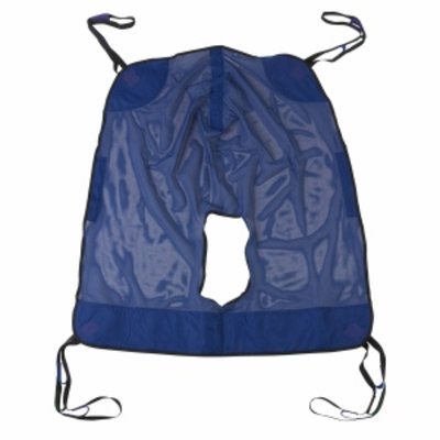 Drive Medical Mesh Full Body Patient Lift Sling with Commode Cutout, X Large, 1 ea