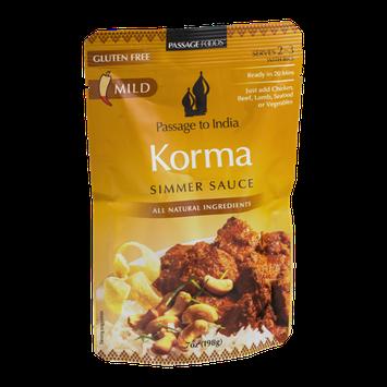 Passage To India Simmer Sauce Korma Mild
