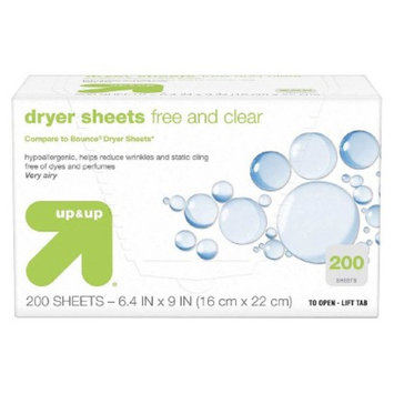 up & up Free & Clear Dryer Sheets 200 ct