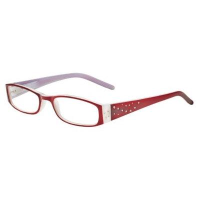 ICU Eyewear ICU Crystal Rectangle Rhinestone Reading Glasses With Sparkle Case -