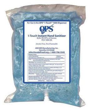 OPS Instant Hand Sanitizer (1000 ml, Foam) [PK/2]. Model: 1405-03G