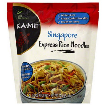 Ka-Me Singapore Express Rice Noodles, 10.6 oz (Pack of 6)