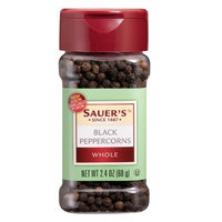 Sauer's Whole Black Peppercorns, 2.4-Ounce Jars (Pack of 6)