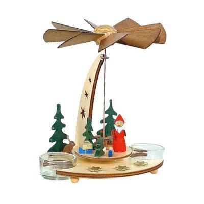 Alexander Taron Importer Alexander Taron 085/467 Pyramid Santa in Forest Tea Candles