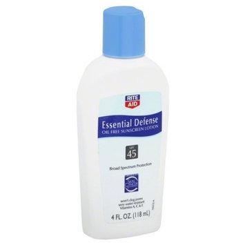 Disney Rite Aid Sunscreen Lotion, Oil Free, Essential Defense, SPF 45, 4 oz