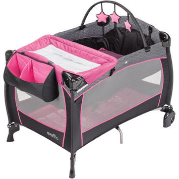 Evenflo Portable BabySuite Deluxe Playard, Koi Party Pink