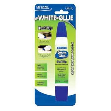 BAZIC 1 Oz. (29.5mL) Dual Tip White Glue