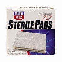 Rite Aid Sterile Pads, All One Size, 25 ct