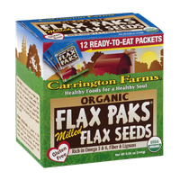 Carrington Farms Organic Flax Paks Flax Seeds - 12 CT