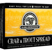 Alaska Smokehouse Crab & Trout Spread Totem Design, 3.5 Ounce Boxes (Pack of 6)