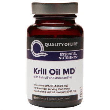 Quality Of Life Labs Quality of Life Labs Krill Oil MD with Fish Oil & Astaxanthin, Softgels, 60 ea