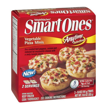 Weight Watchers Smart Ones Anytime Selections Vegetable Pizza Minis