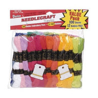 Darice 100-Pack Embroidery Floss with 12 Free Bobbins