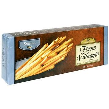 Forno Villaggio Torinese Breadsticks, Sesame, 4.25-Ounce Boxes (Pack of 12)