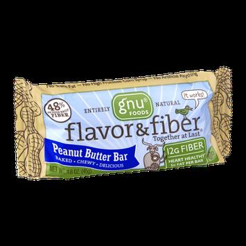 Gnu Foods Flavor & Fiber Peanut Butter Bar
