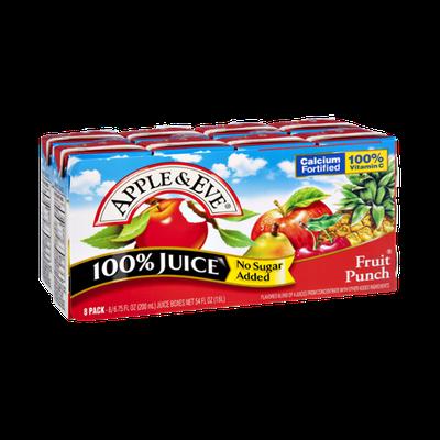 Apple & Eve No Sugar Added Fruit Punch 100% Juice