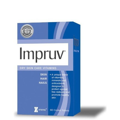 Impruv Dry Skin Care Vitamins, 60 Coated Tablets Bottle