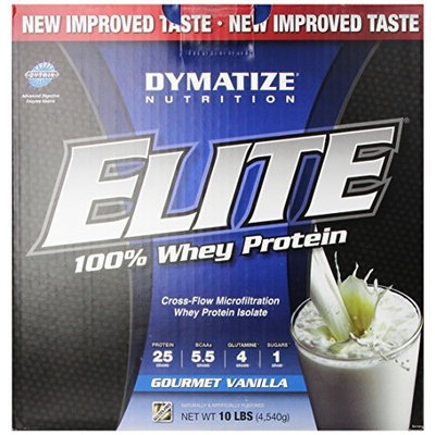 Dymatize Nutrition Elite Whey Protein Isolate, Gourmet Vanilla, 10 Pound