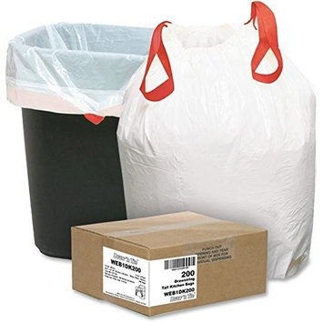 Webster Industries Products Webster 1DK200 Hexene Resin Draw'n Tie Heavy Duty Waste Can Liner, Kitchen, 0.9 Mil, Flat Seal, 27.38