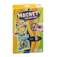 Mello Smello Magnet Valentines Peace Cards & Magnets - 16 CT