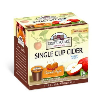 Grove Square Coffee Grove Square Cider, Caramel Apple, 18 Single Serve Cups (Pack of 3)