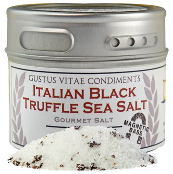 Gustus Vitae - Italian Natural Black Winter Truffle Sea Salt - 2.7 oz.