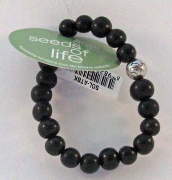 Seeds of Life Bracelet w Antique Silver World Bead Black Whitney Howard Designs